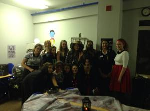 staff & volunteere at haunted house