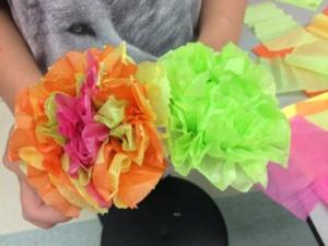 Tissue Paper Flowers 2